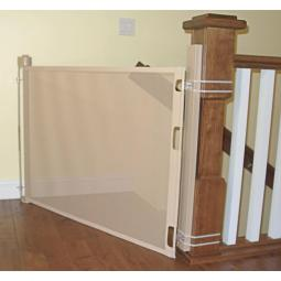 Baby gate top at an angle