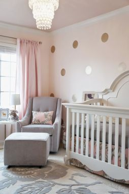 baby room gold and pink