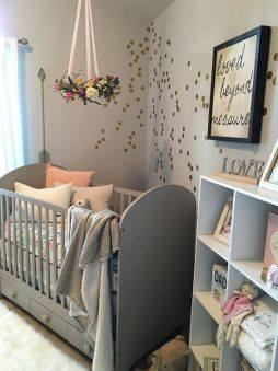 baby room grey and pink