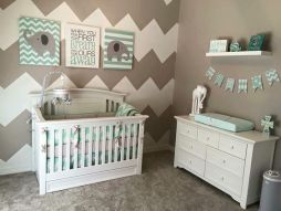 baby room grey and turqoise